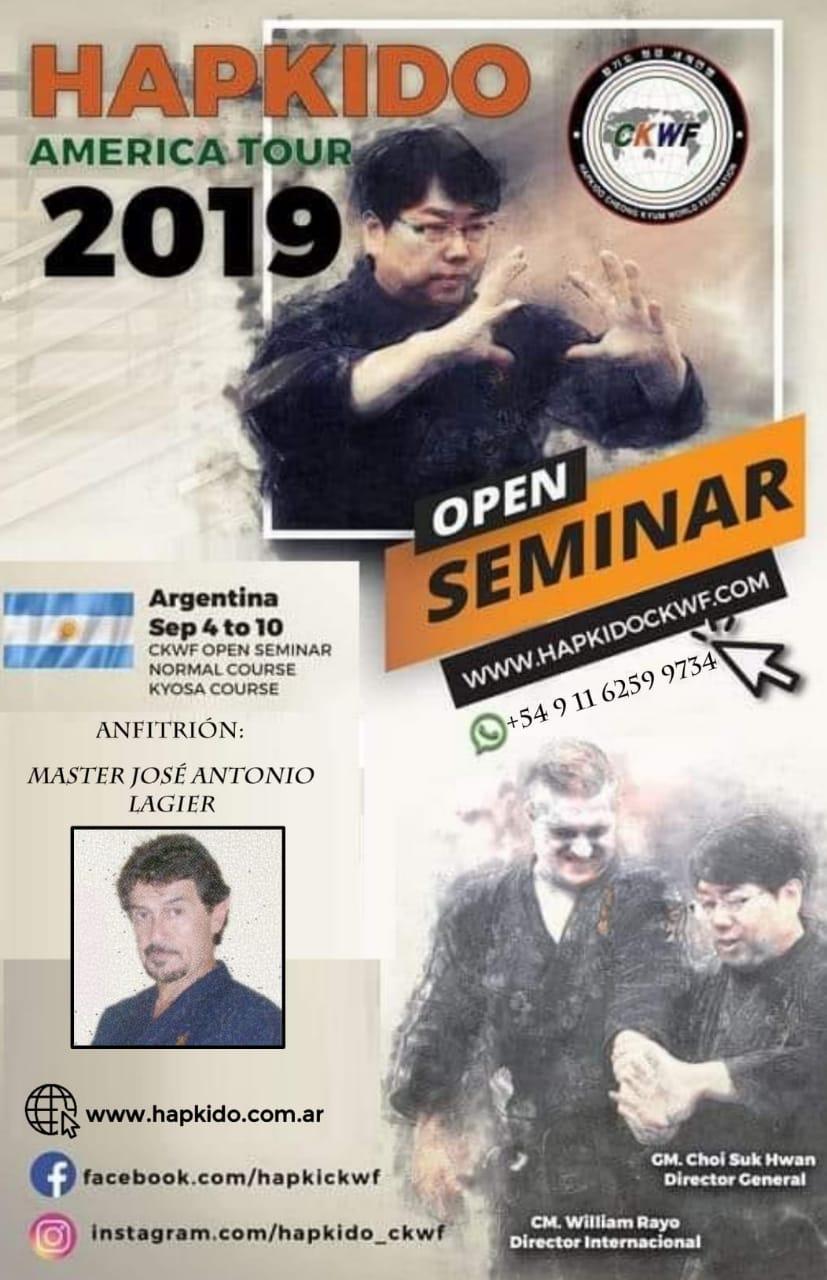 INTERNATIONAL OPEN SEMINAR HAPKIDO CKWF. Septiembre 2019.